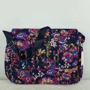 Vera Bradley Messenger Bag Midnight Wildflowers